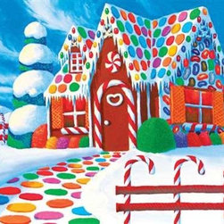 Home Sweet Home Puzzle - 60 Piece Jigsaw PuzzleHome, Sweet Home is a new addition to Springbok Kids. Its bold colors and strong, geometric shapes as well as its large size puzzle pieces make this gingerbread house a ton of fun for young children to put together again and again.  Favorite colors. Favorite flavors. Rooms made of gumdrops and icing! This puzzle will become an immediate favorite.