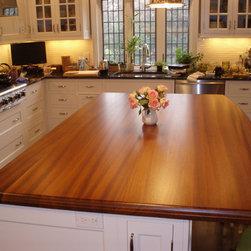 Wood Countertops/Tabletops - Custom wood topped kitchen island by Brooks Custom - brookscustom.com