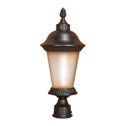 Chestnut Bronze Energy Star Exterior Post Top Light With Photocell - Condition: New - in box