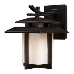 Joshua Marshal - One Light Hazlenut Bronze Wall Lantern - One Light Hazlenut Bronze Wall Lantern