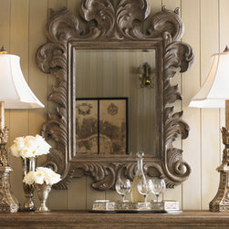 Lexington Home Brands - Chantilly Mirror - Like the strokes of an artist's brush, the movement eminating from this mirror hints at the old world designs and appreciation for the grand statement of style and affluence. Note how the simplest of art forms reveal more than a reflection.