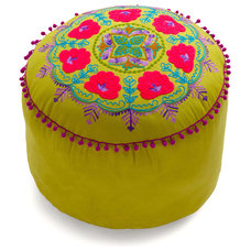 eclectic ottomans and cubes by ModCloth