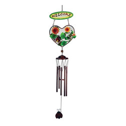 "GWC - 33 Inch Lady Bug Design Heart Shaped ""Welcome"" Metal Wind Chime - This gorgeous 33 Inch Lady Bug Design Heart Shaped ""Welcome"" Metal Wind Chime has the finest details and highest quality you will find anywhere! 33 Inch Lady Bug Design Heart Shaped ""Welcome"" Metal Wind Chime is truly remarkable."