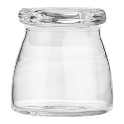 Glass Spice Jar - We love to display in our kitchens and use jars for all types of storage and display. Smaller sizes like this are perfect for filling with spices we use regularly, like peppercorns, sea salt and herbs de Provence.