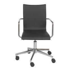 Euro Style - Euro Style Madge Office Chair X-KLB92271 - Finish: Black/Walnut/Chrome.