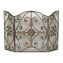 Jerrica Metal Fireplace Screen
