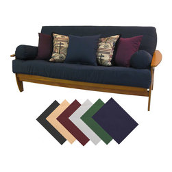 EpicFurnishings - Premium Queen-size Upholstery Grade Twill Futon Cover - Protect and revitalize your home styling with a twill queen futon cover. Treated to be soil and stain resistant,the covers are available in both eight- and 10-inch loft sizes and a variety of colors,and feature upholstery grade twill weave fabric.