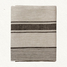 Contemporary Tablecloths Charcoal Stripe Tablecloth