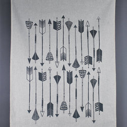 Arrow Tea Towel by Zanna Printed Textiles - Dry your dishes in style with this graphic tea towel.