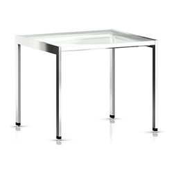Geiger - H Frame Side Table - Massively improve the look of your bedroom when you replace your old bedside table with this modern accent table. Or, put your printer on it to majorly revamp your office. Simply enhance any room.