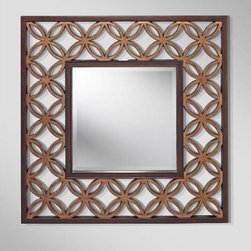 Murray Feiss - Murray Feiss MR1186HTBZ-PGD Mirror in Heritage Bronze / Parisienne Gold MR1186HT - The Murray Feiss is a transitional mirror available in and Heritage Bronze Parisienne Gold finish. The transitional style is sure to compliment any bathroom, hallway, entry or bedroom.Bulb Included: No Finish: Heritage Bronze Parisienne Gold Height: 37 Material: Metal Shade: Clear Glass Weight: 14.08 Width: 37