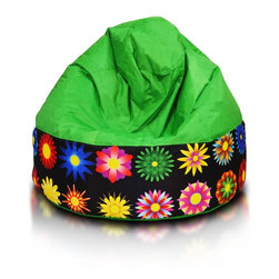 Turbo BeanBags - Beanbag Cake Modern, Green And Dg5, Filled Bag - Cake modern is a modern stylish seat from Turbo BeanBags.