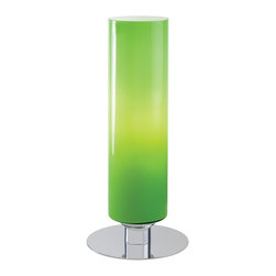 George Kovacs - George Kovacs P663-077 Modern Green Glass Table Lamp - Chrome Finish