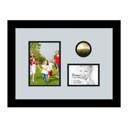 ArtToFrames - ArtToFrames Collage Photo Frame  with 1 - 3.5x5, 2.5x2.5, 5x7 Openings - This sleek Satin Black, 1.25 inch wide collage frame, comes equipped with a multiple opening display for 1 - 3.5x5, 2.5x2.5, 5x7 pictures of your choice. This collage is part of a compilation collage frame collection and boasts a sweeping line of carefully constructed frames at a affordable price tag you can be happy about! Built from hand and created to showcase your pictures ensuring you 1 - 3.5x5, 2.5x2.5, 5x7 art will fit perfectly. Bordered in a striking Satin Black, smooth frame and joined by a contemporary Baby Blue mat, the collage arrangement certainly presents your original prized artwork, and best memories in an entirely unique and creative way. This collage frame comes protected in Regular Glass, available with proper hardware and can be hung up with ease. These superior quality and rustic wood-based collage frames change in design and size specifics; all in contemporary and modern design. Mats are available in a assemblage of color tones, openings, and shapes. It's time to tell your story! Preserving your holding onto your memories in an original and imaginative new way has never been easier.