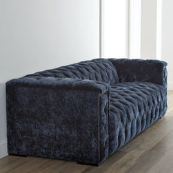 """Old Hickory Tannery - Old Hickory Tannery """"Beverly"""" Tufted Sofa - Talk about dramatic. With plush upholstery; tufted seat, inback, and arms; and nailhead trim along the arm panels, this sofa adds show-stopping comfort to living areas. From Old Hickory Tannery®. Frame made of select hardwoods. Cotton/acrylic/ny..."""
