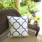 Decorative Throw Pillow Cover, Moroccan by Instant Makeover - This is my favorite navy pattern.