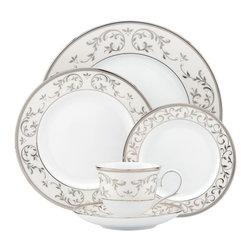 Lenox - Lenox Opal Innocence Silver 5-Piece Place Setting - Lenox Opal Innocence Silver 5-Piece Place Setting