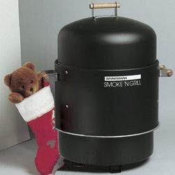 Brinkmann - Gourmet Electric Smoker - Deluxe Dual Level Gourmet electric smoker and grill with heat indicator