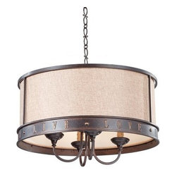 "Murray Feiss - Murray Feiss F2827/4 Live, Laugh, Love 4 Light 1 Tier Chandelier with 36"" Chain - Features:"