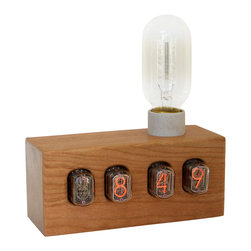 Nixie Sunrise Alarm Clock - Early to rise?  These custom built and programmed made-to-order clocks will wake you up to the gradual glow of an incandescent bulb before your alarm rings.  Great for when you have to awake before the sun.