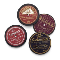 Set of Record Coasters - How cool are these retro record coasters? They're the perfect idea for my guy's stocking.