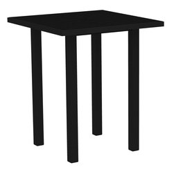 """PolyWood - Euro 36"""" Square Bar Height Table, Black Frame/Black Slats - The Euro 36"""" Square Bar Height Table by Polywood�� is where sophisticated style meets fun and function in your own outdoor entertaining and living space. This sleek, tall, bar height table adds a modern element to any outdoor setting. All weather Polywood�� material is easy to clean with soap and water and will never splinter, rot or crack.  Pair with the A102 or A202 Bar Chairs for a stylish Outdoor Dining Set."""