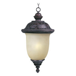 Maxim Lighting - Maxim Lighting Carriage House EE Outdoor Hanging Light with Photocell - This Maxim Lighting Carriage House EE traditional outdoor hanging light with photocell is reminiscent of early American style. It has an elegant frame in a rich, oriental bronze finish and a warm, mocha shade. It's a fixture that's sure to shine a soothing glow and create a welcoming atmosphere in most any outdoor area.