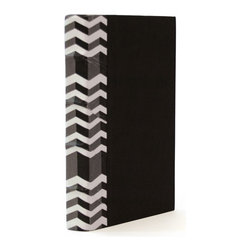 Go Home - Go Home Single Chevy Black and White Book - Make a stylish addition to your bookshelf, side table or study table with the Single Chevy Black and White Book. This wonderful item from French country chic collection is designed keeping choice of tasteful people in mine. The binding of this book is adorned with white stripes that can enhance the look of your vintage industrial chic collection. It features quite different outlook which will reflect your  classic selection sense for literary arts. You can also preset this cool black and white book to a friend who like collecting books and novels. It can give a rustic look to your urban home decor.
