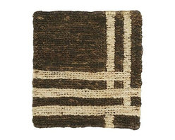 "Barnaby 12"" sq. Rug Swatch - At the intersection of neutral and dynamic, this gingham check intrigues with subtle patterning at the overlap. Crafted of jute and cotton, this rug is woven into a dense soumak flatweave that is durable for all kinds of high-traffic areas."