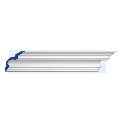 """Inviting Home - Cambridge Crown Molding - 12 foot length - Cambridge crown molding 6-15/16""""H x 6-15/16""""P x 9-13/16""""F x 12'00""""L 4 piece minimum order required crown molding specifications: - outstanding quality crown molding made from high density polyurethane: environmentally friendly material is hypoallergenic and fully recyclable no CFC no PVC no formaldehyde; - front surface of this molding has extra durable and smooth surface; - crown molding is pre-primed with water-based white paint; - lightweight durable and easy to install using common woodworking tools; - metal dies were used for consistent quality and perfect part to part match for hassle free installation; - this crown molding has sharp deep and highly defined design; - matching flexible molding available; - crown molding can be finished with any quality paints; Polyurethane is a high density material--it's extremely lightweight and easy to install (and comes primed and ready to paint). It is a green material meaning its CFC and formaldehyde free. It is also moisture resistant--so it won't shrink flex or mold. What's also great about Polyurethane is that it's completely customizable and can be treated as wood (you can saw it nail it screw it and sand it). In addition our polyurethane material comes primed and ready to paint. There is a four piece minimum requirement for this molding purchase."""