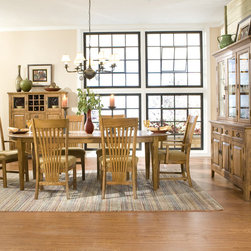 None - Intercon Lodge Park Solid Oak 44-inch Oval Dinette Table - Add a traditional accent to your home's decor with this Intercon 44-inch oval dinette table. This table, from the Lodge Park Dining Room Furniture Collection, features a solid oak construction in a medium brown finish.