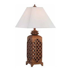 Lite Source - Lite Source Misha Traditional Table Lamp X-32314C - Moroccan style body.