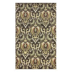 nuLOOM - Transitional 5' x 8' Brown Hand Hooked Area Rug Persian Damask - Made from the finest materials in the world and with the uttermost care, our rugs are a great addition to your home.
