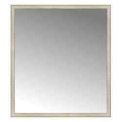 """Posters 2 Prints, LLC - 50"""" x 56"""" Libretto Antique Silver Custom Framed Mirror - 50"""" x 56"""" Custom Framed Mirror made by Posters 2 Prints. Standard glass with unrivaled selection of crafted mirror frames.  Protected with category II safety backing to keep glass fragments together should the mirror be accidentally broken.  Safe arrival guaranteed.  Made in the United States of America"""