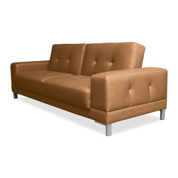 Lifestyle Solutions - Serta Dream Convertible Metropolitan Sofa in Mocha - Easily converts from sofa to bed position in seconds. 3 seat function: sofa, lounger,  bed. Genuine Bonded Leather. Construction: wood frame,  steel legs. Durable construction. Clean with damp cloth. Sofa:  89 in. L x 35.6 in. W x 32.5 in. H (155.5 lbs). Bed: 89 in. L x 44.1 in. W x 22.2 in. H (155.5 lbs)Serta Dream Convertibles - a collection of stylish convertibles that turn from Sofa by Day to a Dream Sleeper at Night.  From individual encased coils to quilted memory foam to ensure comfort.