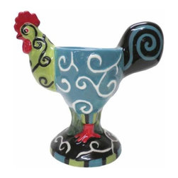 WL - 4.75 Inch Whirl of Swirls Decorated Collectible Rooster Egg Holder Cup - This gorgeous 4.75 Inch Whirl of Swirls Decorated Collectible Rooster Egg Holder Cup has the finest details and highest quality you will find anywhere! 4.75 Inch Whirl of Swirls Decorated Collectible Rooster Egg Holder Cup is truly remarkable.