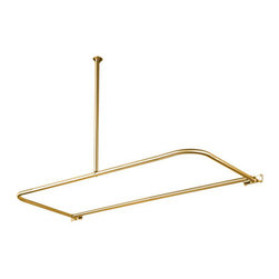 Kingston Brass - D-Type Shower Rod - This D-type shower rod is constructed of high quality brass to ensure reliability and durability. Its premier finish resists tarnishing and corrosion.