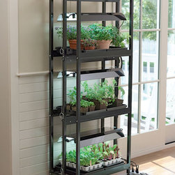 Compact Three-Tier Sunlite® Garden - Going vertical with built-in sunlights — definitely a great option for small spaces.
