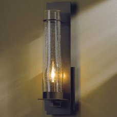 Wall Sconces New Town Wall Sconce with Seedy Hurricane Clear Glass by Hubbardton Forge
