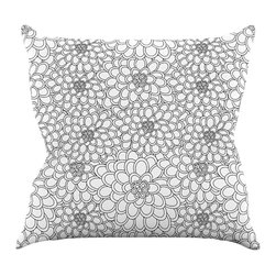 """Kess InHouse - Julia Grifol """"White Flowers"""" Throw Pillow (16"""" x 16"""") - Rest among the art you love. Transform your hang out room into a hip gallery, that's also comfortable. With this pillow you can create an environment that reflects your unique style. It's amazing what a throw pillow can do to complete a room. (Kess InHouse is not responsible for pillow fighting that may occur as the result of creative stimulation)."""