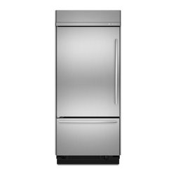 """Jenn-Air® 36"""" Built-In Bottom Mount Refrigerator (2) - These two built-in refrigerators work beautifully together for entertaining. They offer the Precision Temperature Management™ System, which constantly monitors the environment to keep food at exactly the right temperature. Climate-controlled drawers offer specialized settings for meat, deli, produce and even a quick-chill for wine."""