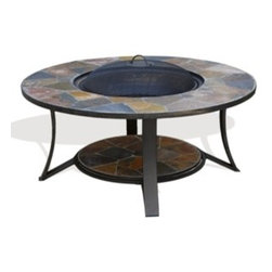 Deeco Arizona Sands II Outdoor Fire Pit - The mismatched tiles make for a funky design element to include in your backyard or outdoor patio decorating. -Mantels Direct