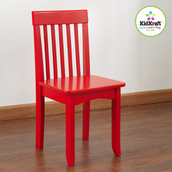 Kids Chair - Avalon red color kids chair - Your kids will love relaxing with our red Avalon kids Chairs, Our heirloom quality avalon Chair is crafted form solid wood to endure rigorous use through childhood.