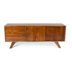 Teak Me Home - Dandridge Credenza Natural Honey Color - Solid Reclaimed Teak Wood - 100% Solid Reclaimed Teak Wood