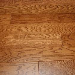 "Oak Butterscotch Lincoln 3/8 x 3-1/2"" Engineered Hardwood Flooring -"