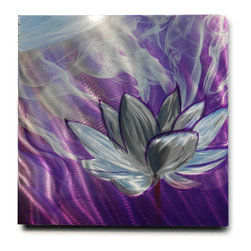Miles Shay - Metal Art Wall Art Decor Abstract Contemporary Modern Sculpture- Sm Smoky Lotus - This Abstract Metal Wall Art & Sculpture captures the interplay of the highlights and shadows and creates a new three dimensional sense of movement as your view it from different angles.