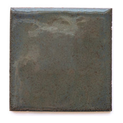 956 Smoke N Mirrors (Crackle and Glossy Finish) - Handmade Ceramic Tile - Handmade Ceramic Tile