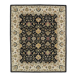 Kaleen - Kaleen Taj Collection TAJ13-02 5' x 7'9 Black - The Taj collection is inspired with classic style and traditional patterns that mix beautifully with today's formal, casual, and transitional d_cor to complete a forever timeless masterpiece. Hand-tufted in India of 100% wool.