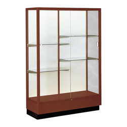 Waddell - Heritage 70 in. Display Case in Cordovan Finish - With their classic styling, Heritage Series cases will stand the test of time as well as they stand up to school environments. With over a century of experience behind them, Heritage Series display cases continue to be a favorite.