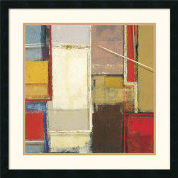 Amanti Art - Rosetta Two Framed Print by Elya DeChino - Bold bands of color contrast with geometric shapes and lines in this contemporary Abstract Art print by Elya DeChino. Thoughtful and contemplative, this fine artwork will lend any room an avant-garde air.